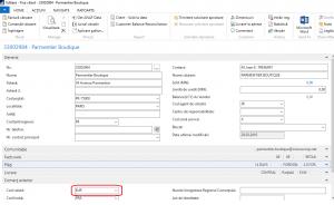 Dynamics NAV (Navision) - Fisa Client EUR