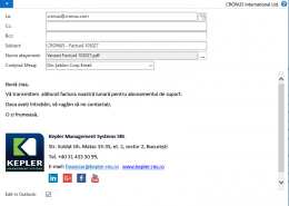 Dynamics NAV (Navision) - Trimitere Email Factură Vânzare