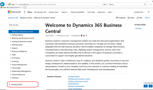 Dynamics 365 Business Central Documentation