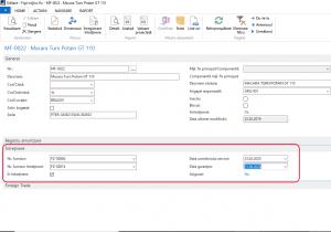 Dynamics NAV - Navision - Fisa Mijloc Fix Date Intretinere