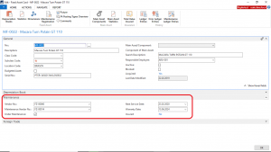 Dynamics NAV - Navision - Fixed Assets Card-Maintenance Data