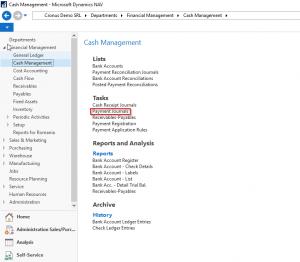Microsoft Dynamics NAV - Navision -Payment Journals