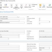 Dynamics NAV - Navision - Fișă cont bancar completată