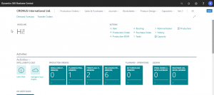 Dynamics 365 Business Centrals (Navision) - Manufacturing