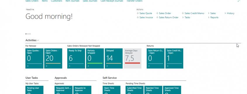 Dynamics 365 Business Central (Navision) - Centrul de rol