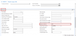 Dynamics NAV (Navision) - Comandă cumpărare - selectare client livrare